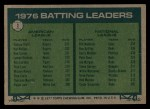 1977 Topps #1  Batting Leaders    -  George Brett / Bill Madlock Back Thumbnail