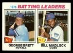 1977 Topps #1  Batting Leaders    -  George Brett / Bill Madlock Front Thumbnail