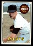 1969 Topps #233 ERR Steve Barber  Front Thumbnail