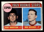 1969 Topps #284  Expos Rookies  -  Jerry Robertson / Mike Wegener Front Thumbnail