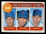 1969 Topps #602 COR  -  Alec Distaso / Don Young / Jim Qualls Cubs Rookies Front Thumbnail