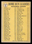 1970 Topps #65  NL HR Leaders  -  Hank Aaron / Lee May / Willie McCovey Back Thumbnail