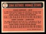 1966 Topps #244  Astros Rookies  -  Sonny Jackson / Chuck Harrison Back Thumbnail