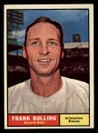 1961 Topps #335   Frank Bolling Front Thumbnail