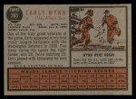 1962 Topps #385  Early Wynn  Back Thumbnail