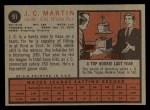 1962 Topps #91   J.C. Martin Back Thumbnail