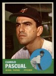 1963 Topps #220  Camilo Pascual  Front Thumbnail