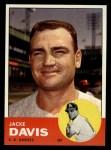 1963 Topps #117 COR Jacke Davis  Front Thumbnail