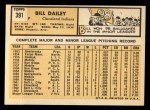 1963 Topps #391   Bill Dailey Back Thumbnail