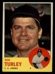 1963 Topps #322   Bob Turley Front Thumbnail