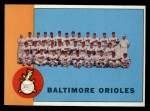 1963 Topps #377  Orioles Team  Front Thumbnail