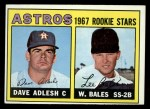 1967 Topps #51   Astros Rookie Stars  -  Dave Adlesh / Wes Bales Front Thumbnail