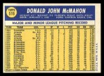 1970 Topps #519   Don McMahon Back Thumbnail
