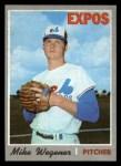 1970 Topps #193   Mike Wegener Front Thumbnail