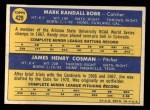 1970 Topps #429  Cubs Rookies  -  Randy Bobb / Jim Cosman Back Thumbnail