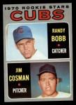 1970 Topps #429  Cubs Rookies  -  Randy Bobb / Jim Cosman Front Thumbnail