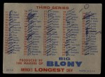 1957 Topps #0 BLO  Checklist - Series 2 & 3 Back Thumbnail