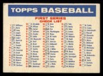 1957 Topps #0  Checklist - Series 1 & 2  Front Thumbnail