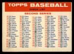 1957 Topps #0 BAZ Checklist - Series 2 & 3  Front Thumbnail