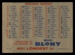 1957 Topps #0  Checklist - Series 1 & 2  Back Thumbnail