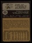 1973 Topps #502   Bobby Valentine Back Thumbnail