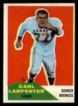 1960 Fleer #60  Carl Larpenter  Front Thumbnail