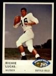 1961 Fleer #135   Richie Lucas Front Thumbnail