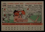 1956 Topps #105   Al Smith Back Thumbnail