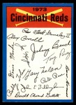 1973 O-Pee-Chee Blue Team Checklist #7  Reds Team Checklist  Front Thumbnail
