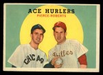 1959 Topps #156  Ace Hurlers  -  Billy Pierce / Robin Roberts Front Thumbnail