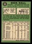 1967 Topps #508   Dick Hall Back Thumbnail