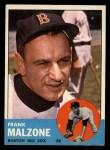 1963 Topps #232  Frank Malzone  Front Thumbnail