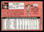 1969 Topps #473 WN  Jose Arcia Back Thumbnail
