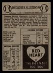 1954 Red Heart #14  Ted Kluszewski    Back Thumbnail