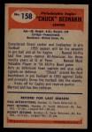 1955 Bowman #158   Chuck Bednarik Back Thumbnail