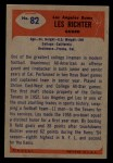 1955 Bowman #82   Les Richter Back Thumbnail