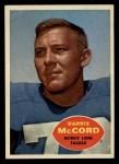 1960 Topps #45  Darris McCord  Front Thumbnail
