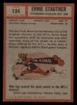 1962 Topps #134   Ernie Stautner Back Thumbnail