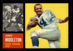 1962 Topps #95   Dave Middleton Front Thumbnail
