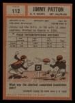 1962 Topps #112   Jim Patton Back Thumbnail