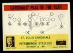 1964 Philadelphia #182  St. Louis Cardinals  -  Wally Lemm  Front Thumbnail