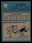 1964 Philadelphia #5   Jim Martin    Back Thumbnail