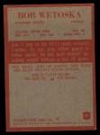 1965 Philadelphia #27   Bob Wetoska Back Thumbnail