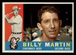 1960 Topps #173  Billy Martin  Front Thumbnail