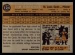 1960 Topps #124  Rookie Stars  -  Jim Donohue Back Thumbnail