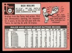 1969 Topps #451 *WN* Rich Rollins  Back Thumbnail