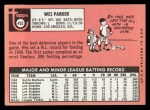 1969 Topps #493 WN Wes Parker  Back Thumbnail