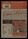 1953 Topps #44  Ellis Kinder  Back Thumbnail