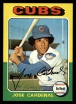 1975 Topps #15   Jose Cardenal Front Thumbnail