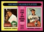 1975 Topps #201  1963 MVPs  -  Elston Howard / Sandy Koufax Front Thumbnail
